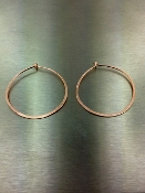 14 Karat Rose Gold Hoop Earrings