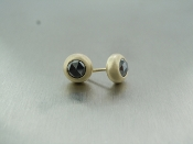 14 Karat Yellow Gold Black Diamond Stud Earrings (.78ct)