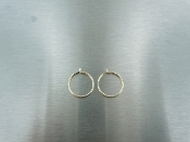 14 Karat  Yellow Gold Hoop Earrings (10mm)