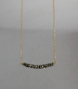 Gray Pyrite Bar Necklace