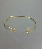 14 Karat Yellow Gold Yellow Sapphire Bangle (4-5mm)