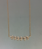 14 Karat Rose Gold Diamond Fern Necklace
