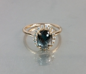 14 Karat rose Gold Black Diamond Ring (1.45ct)