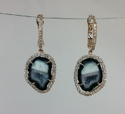 14 Karat Rose Gold Geode Diamond Earrings (0.40ct)