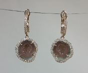 14 Karat Rose Gold Geode Diamond Earrings (0.38ct)