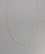 14 Karat Rose Gold Diamond Multi Bar Necklace
