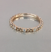 14 Karat Rose Gold Diamond Mini Trio Ring (0.08ct)