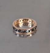 14 Karat Rose Gold Black Diamond Eternity Band
