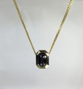 18 Karat Yellow Gold Black Diamond Necklace (1.69ct)