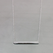 Silver Bar Necklace (4x30mm)
