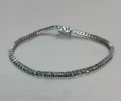 14 Karat White Gold Black Diamond Bracelet (2.44ct)