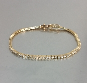14 Karat Yellow Gold Brown Diamond Bracelet (2.72ct)