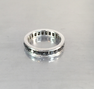 14 Karat White Gold Black Diamond Eternity Band (2-2.5ct)