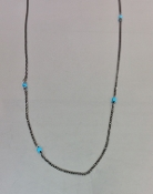 Turquoise Oxidized Necklace
