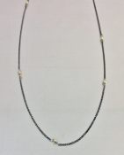 Gold Pyrite Oxidized Necklace