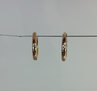 14 Karat Rose Gold Huggie Earrings (10/1.5mm)