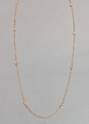 14 Karat Rose Gold Diamond By The Yard Necklace (0.37ct) 3.2mm