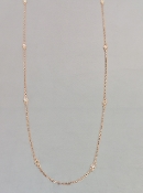 14 Karat Rose Gold Diamond By The Yard Necklace (0.23ct) 2.8mm