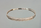 14 Karat Rose Gold Diamond Bangle (0.41ct)