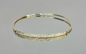 14 Karat Yellow Gold Diamond Bangle (0.41ct)