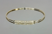 14 Karat Yellow Gold Diamond Bangle (0.22ct)