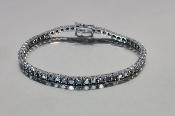 14 Karat White Gold Black Diamond Bracelet (6.36ct)