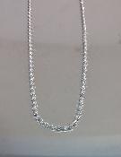 Sterling Silver Necklace (White Gold Rhodium)