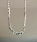 Sterling Silver Link Chain (White Gold Rhodium)
