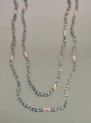14 Karat Rose Gold Labradorite Necklace (3mm)