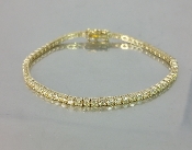 14 Karat Yellow Gold Yellow Diamond Bracelet (3.89ct)