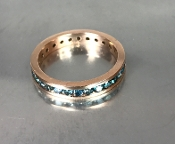 14 Karat Rose Gold Blue Diamond Eternity Band (1.50ct)
