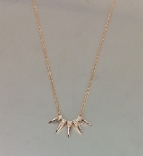 14 Karat Rose Gold Diamond Spikes Necklace (0.10ct)