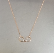 14 Karat Rose Gold Diamond Handcuff Necklace (0.05ct)