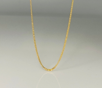 14K Yellow Gold Love Initials Necklace - Chain Only