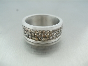 Sterling Silver Champagne Diamond Band