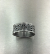 Black Diamond Band-Oxidized Sterling Silver (2.0ct)