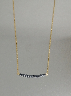 Hematite Bar Necklace