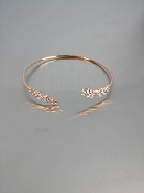 14 Karat Rose Gold Diamond Cuff Bangle