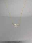 14 Karat Yellow Gold Diamond Triangle Necklace (0.20ct)