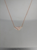 14 Karat Rose Gold Diamond Triangle-N (0.20ct)