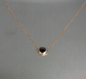 14K Rose Gold Rose Cut Black Diamond Necklace 0.50ct