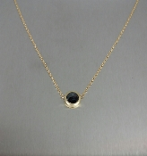 14K Yellow Gold Rose Cut Black Diamond Necklace 0.50ct