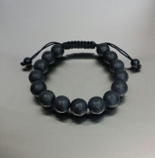 Black Onyx Macrame Bracelet (10mm)