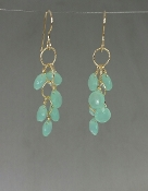 Chalcedony Multi-Drop Earrings-(35mm)