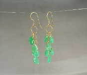 Chrysophrase Multi-Drop Earrings-(35mm)