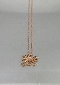 14K Rose Gold Black Diamond Octopus Necklace
