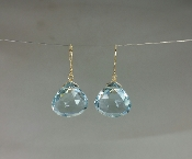 Aqua Quartz Earrings-(15x15mm)