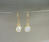 Rainbow Moonstone Earrings (7mm)