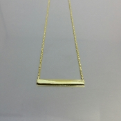 18 Karat Yellow Gold Plated Bar Necklace