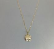 18 Karat Yellow Gold Champagne Diamond Disc Pendant